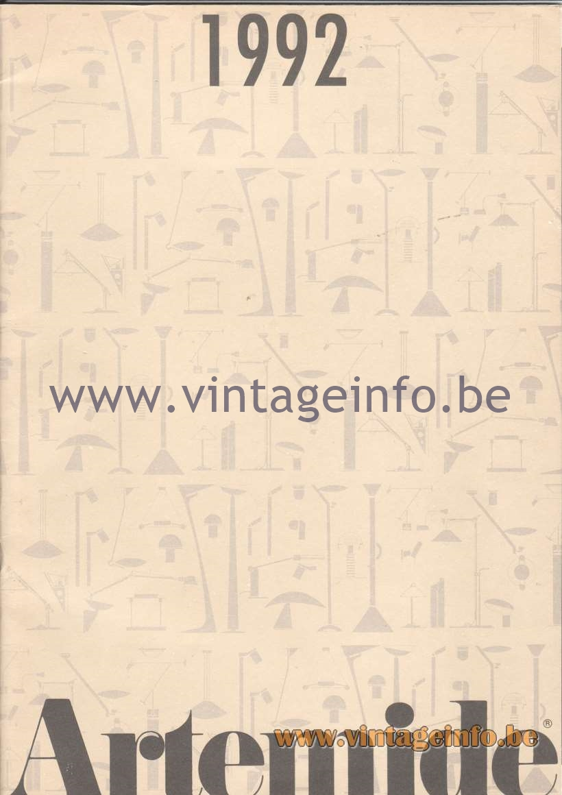 Artemide Catalogue 1992 - Front cover