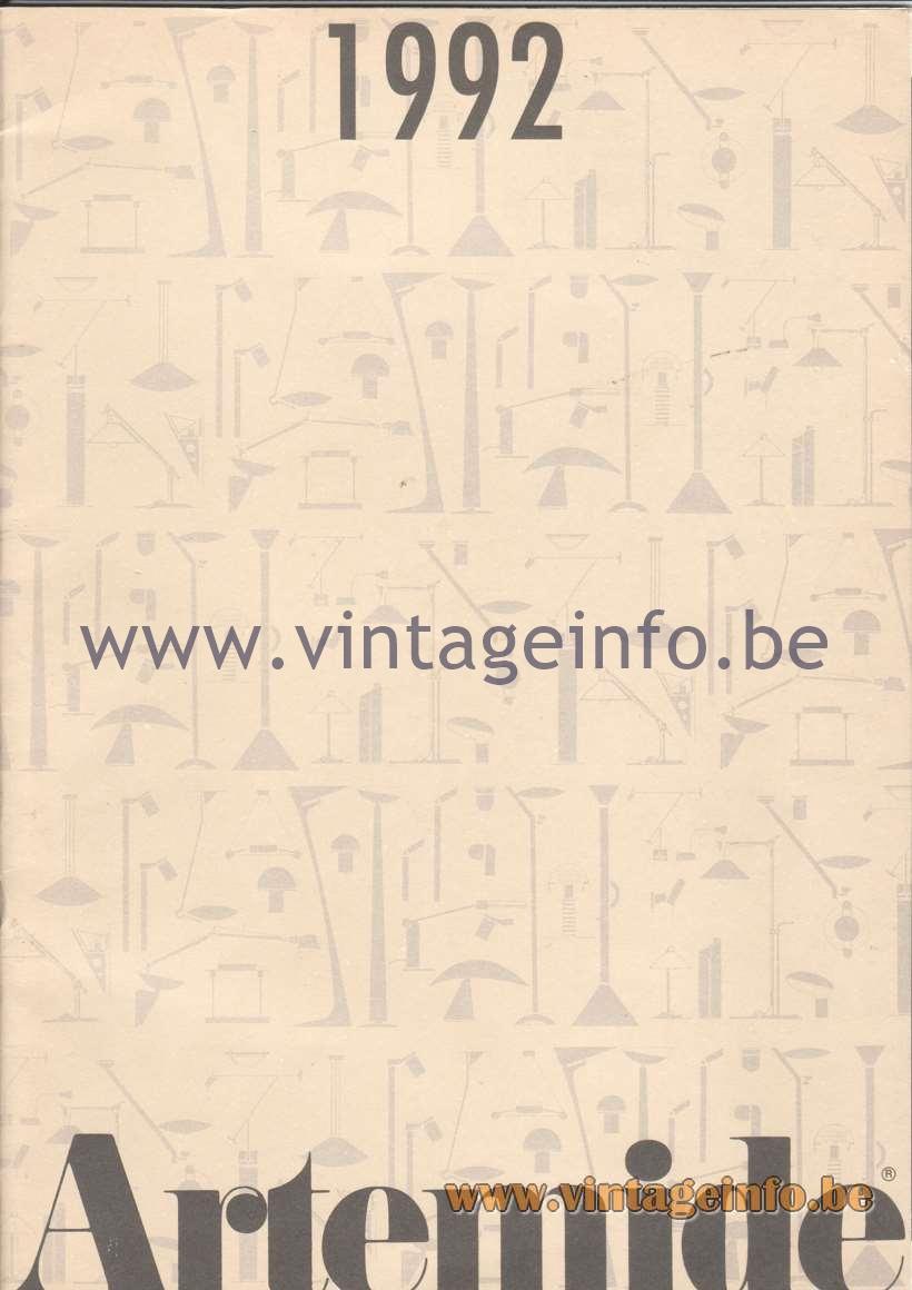 Artemide Catalogue 1992 - Front cover