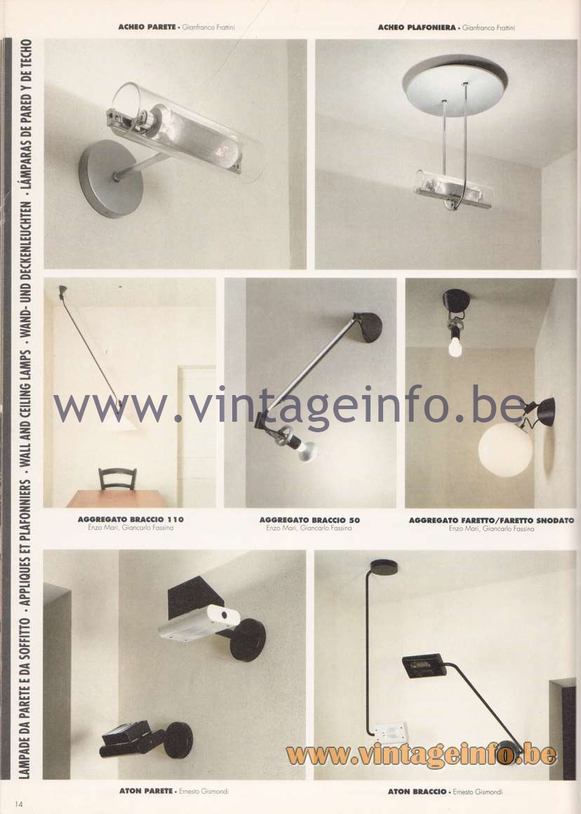 Artemide Catalogue 1992 – Wall & Ceiling Lamps