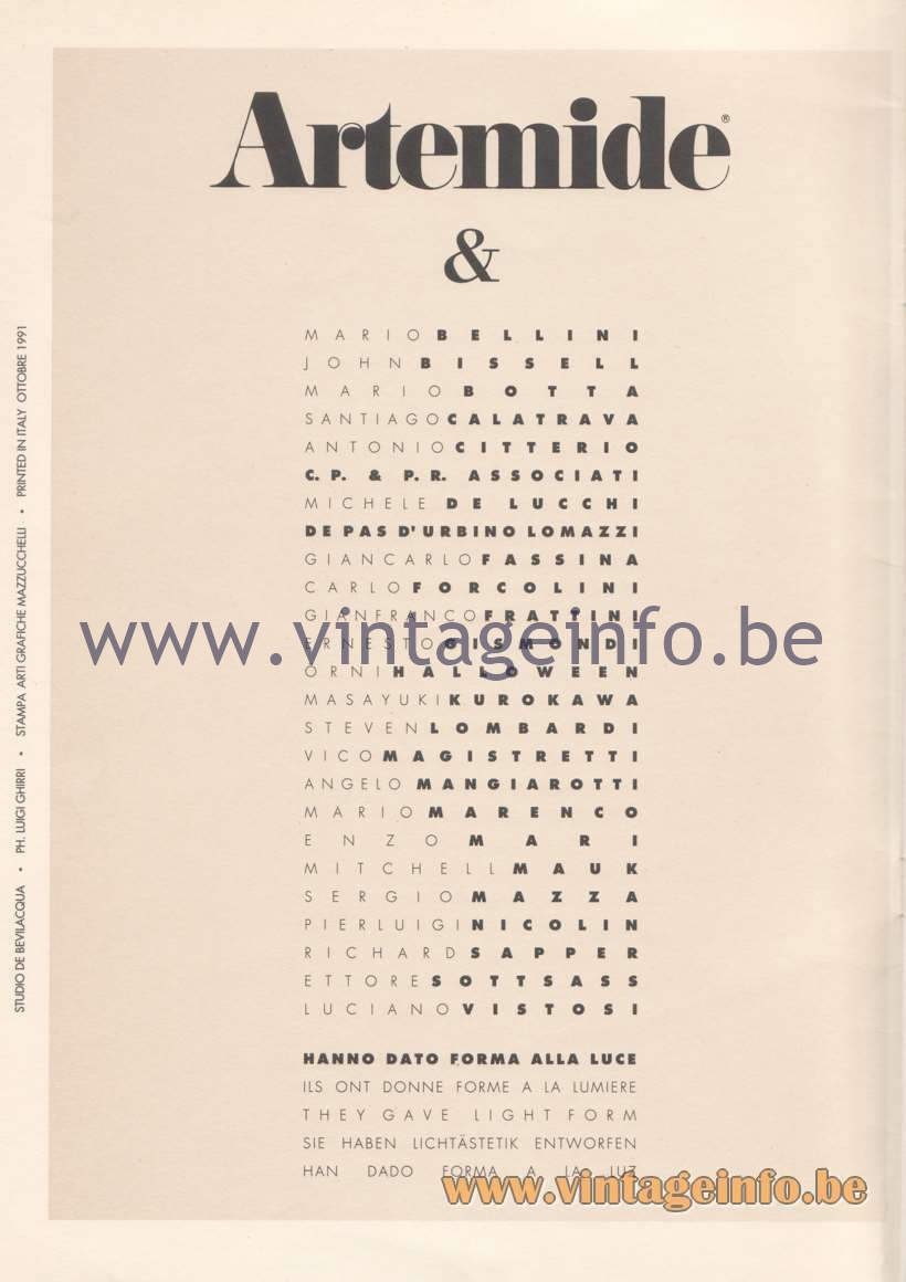 Artemide Catalogue 1992 - Page 2
