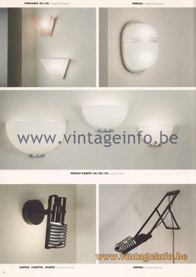 Artemide Catalogue 1992 Page 4 Vintage Info All About