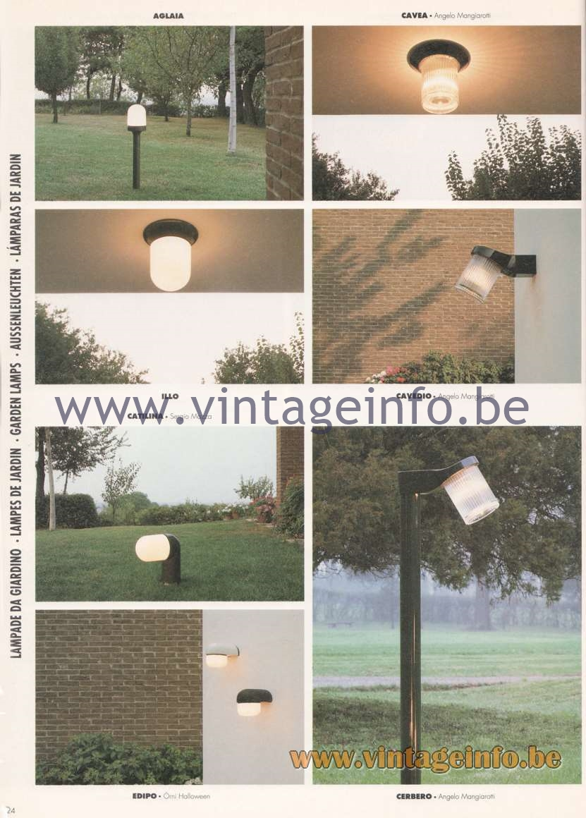 Artemide Catalogue 1992 - Garden & Outdoor Lamps