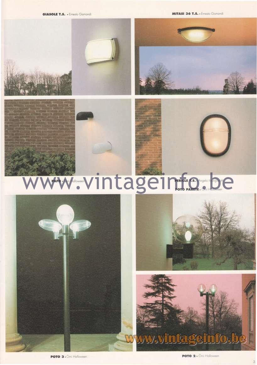 Artemide Catalogue 1992 – Outdoor & Garden Lamps