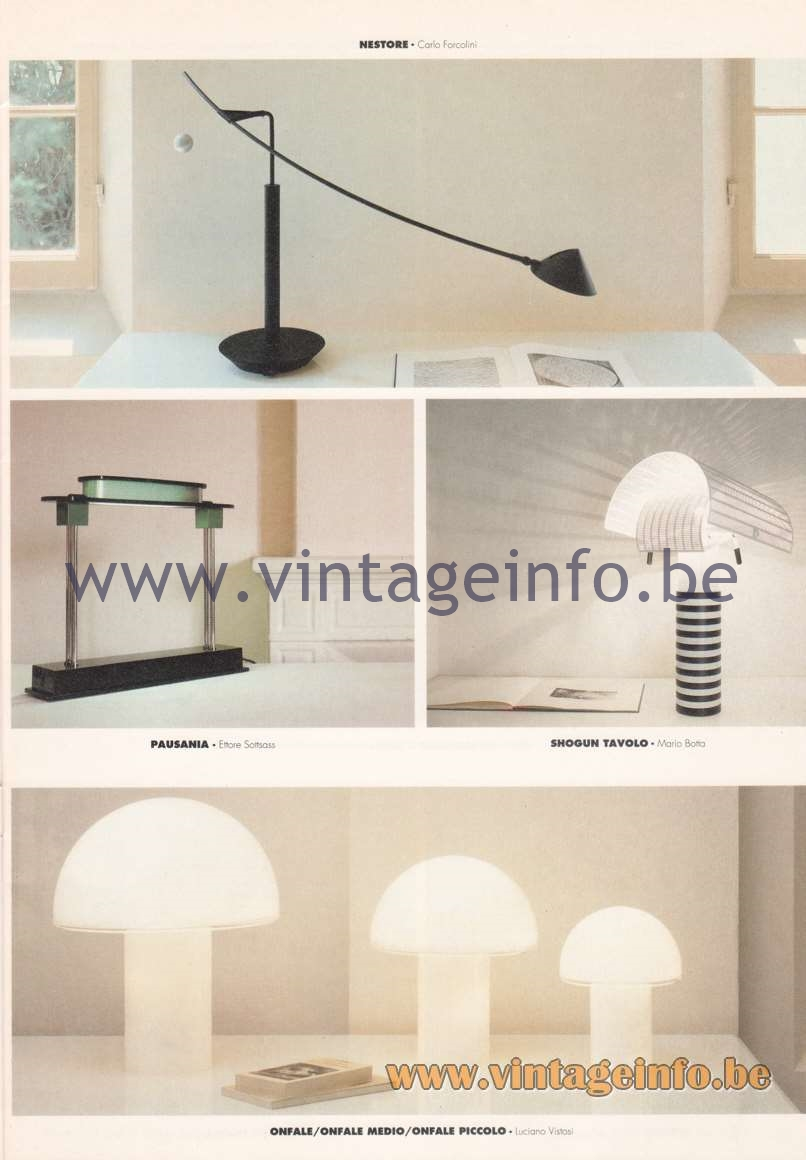 Artemide Catalogue 1992 - Table Lamps