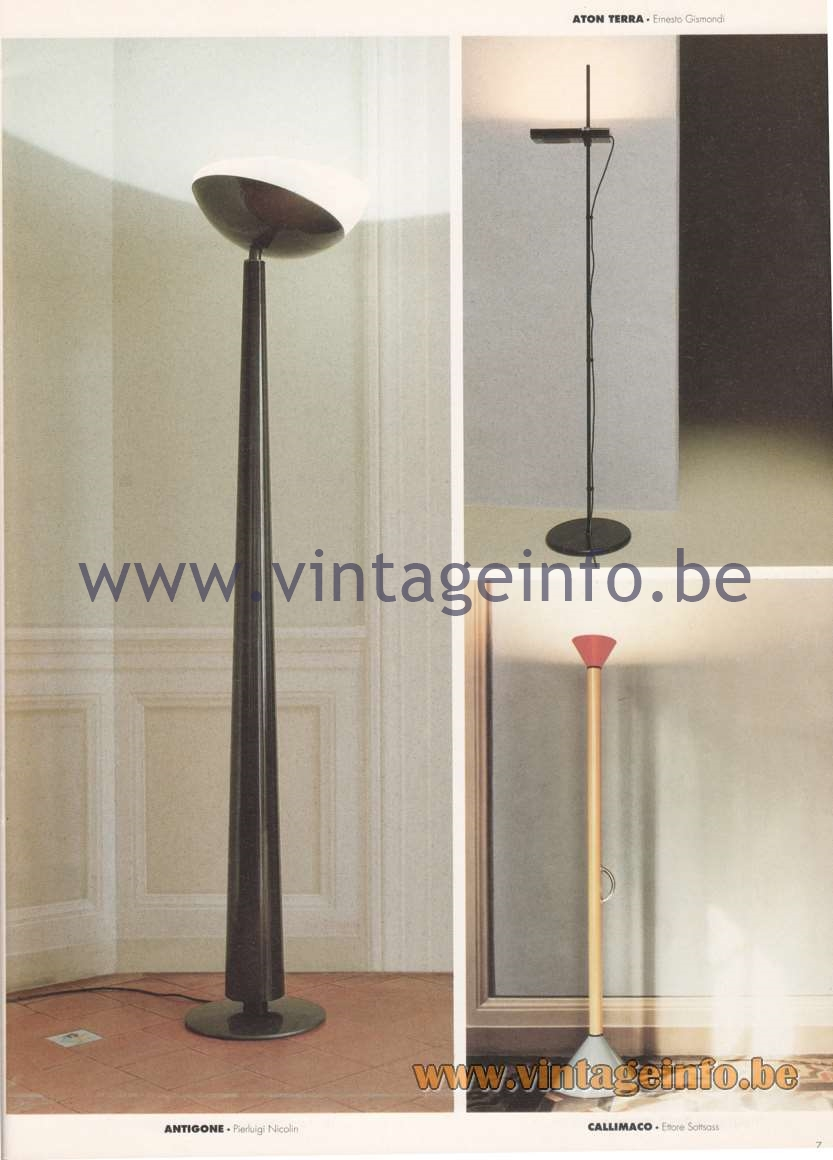 Artemide Catalogue 1992 - Floor Lamps