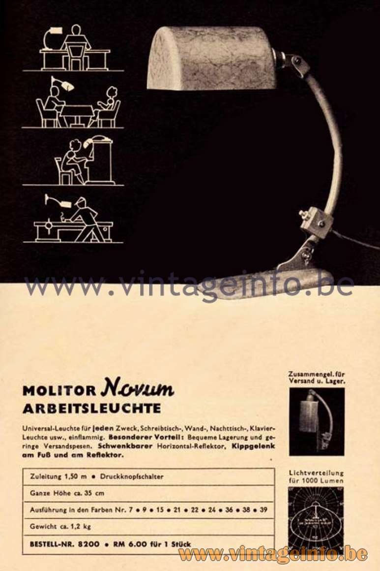 Molitor Novum Desk Light - Advertisement