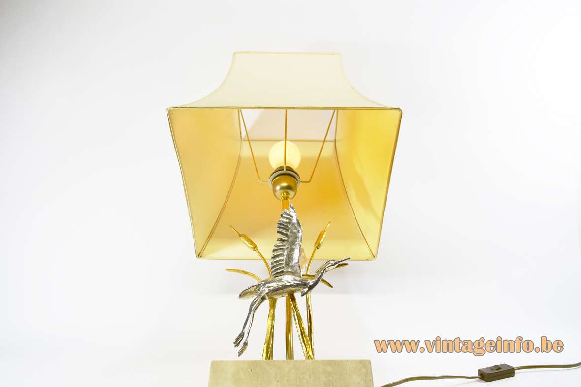 Cattails & Heron Table Lamp