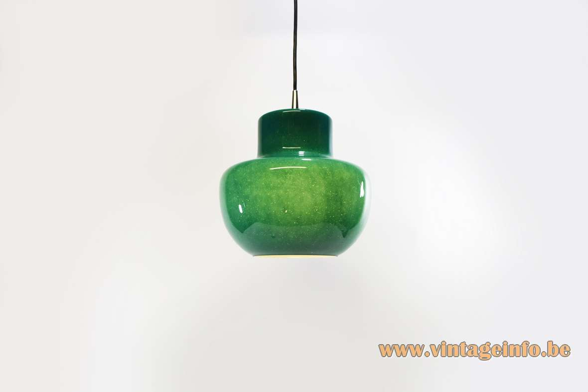 Green Glass Pendant Lamp Vintage Info All About Vintage