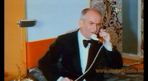 Jacques Biny Picture Lamp - Louis de Funès on the phone in the film Jo from 1971