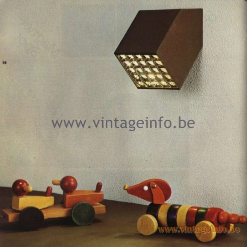 Raak Catalogue 11, 1978 - Louvre Wall Lamp