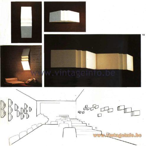 Raak Triptiek Wall Lamp C-1582.00 (design goldsmith Hermian Sneyders de Vogel)