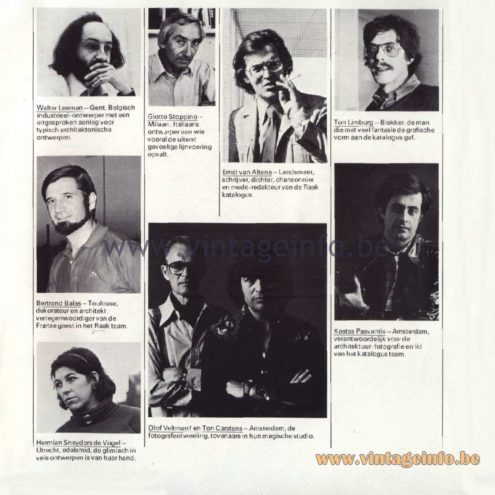 Raak Catalogue 11, 1978