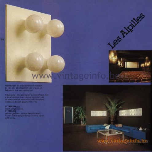 Raak Catalogue 11, 1978 - Raak Les Alpilles Wall Lamp P-1404.00, P1405.00