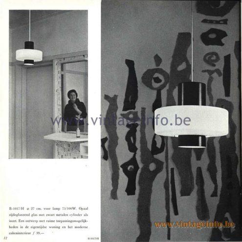 Raak Catalogue 5, 1962 - Raak Pendant Lamp B-1017/H