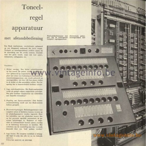 Raak Catalogue 5, 1962 – Toneel Regel Apparatuur - Theater Control Unit