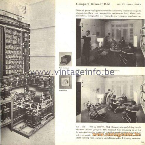 Raak Catalogue 5, 1962 – Raak Compact-Dimmer R-61