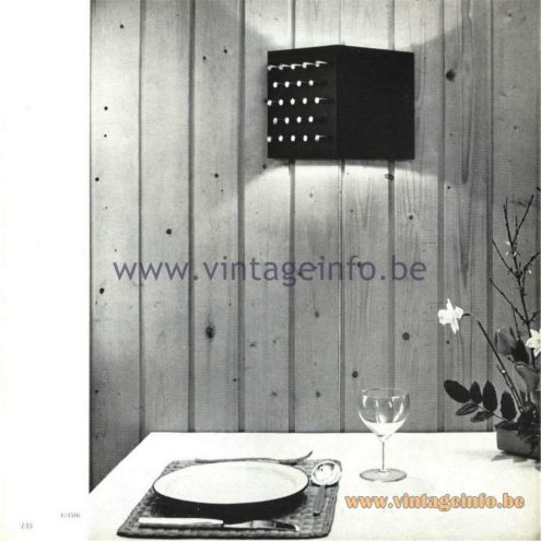 Raak Catalogue 5, 1962 – Raak Wall Lamp Clair-Obscur