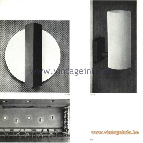 Raak Catalogue 5, 1962 – Raak Wall Lamps C-1576, C-1579