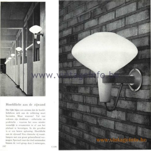 Raak Catalogue 5, 1962 – Raak Wall Lamp C-1585