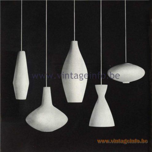 Raak Catalogue 5, 1962 - Raak Pendant Lights
