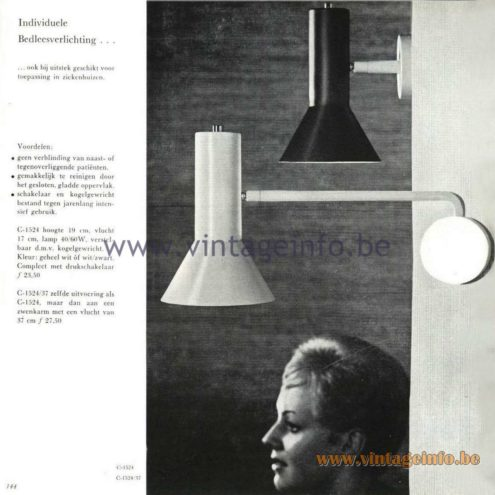 Raak Catalogue 5, 1962 – Raak Wall Lamp C-1524