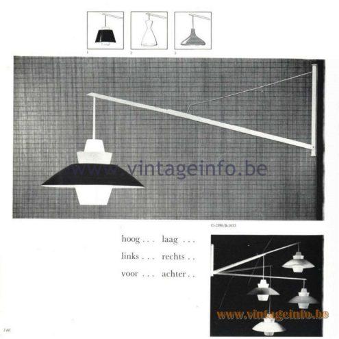 Raak Catalogue 5, 1962 – Raak Wall Lamps C-1590, B-1033