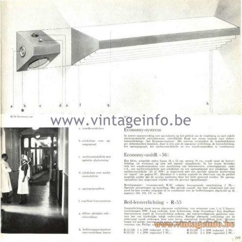 Raak Catalogue 5, 1962 – Raak Wall Lamps R-55, R-56