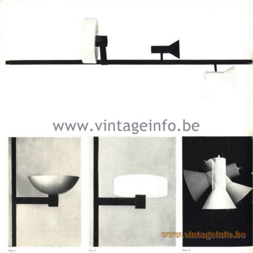 Raak Catalogue 5, 1962 – Raak Totempaal Lamp - Totem Pole Lamp