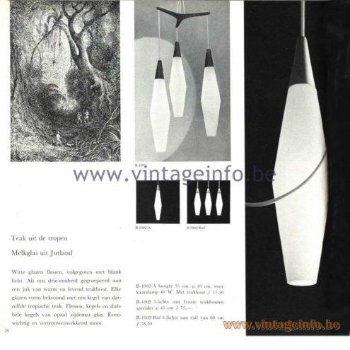 Raak Catalogue 5, 1962 - Raak Pendant Lamp B-1002