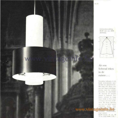 Raak Catalogue 5, 1962 – Raak Pendant Lamp R-209