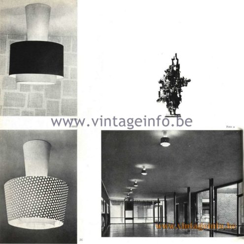 Raak Catalogue 5, 1962 - Raak Ceiling Lamp/Flush Mount B-1018, R-176