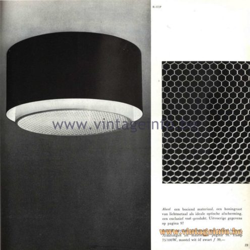 Raak Catalogue 5, 1962 – Raak Ceiling Lamp/Flush Mount R-37/P