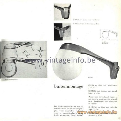 Raak Catalogue 5, 1962 – Raak Outdoor Wall Lamp C-1578