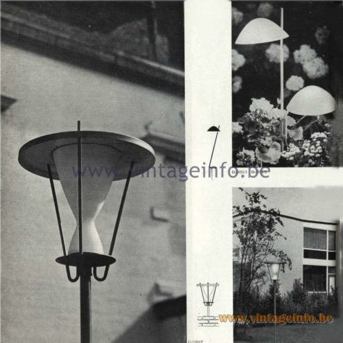 Raak Catalogue 5, 1962 – Raak Garden Lamp D-2055, C-1560