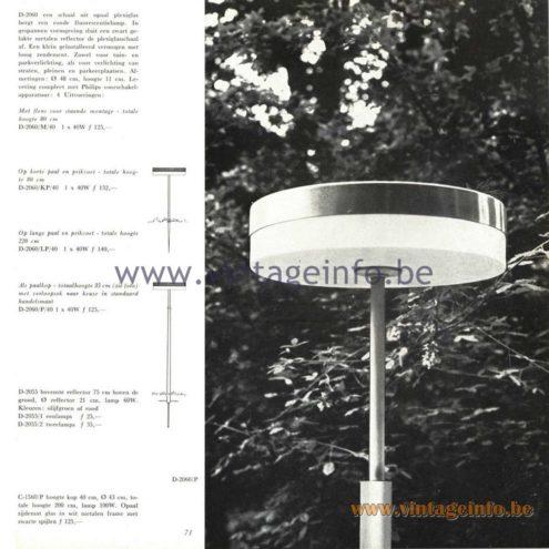 Raak Catalogue 5, 1962 – Raak Garden Lamp D-2060, D2055, C-1560