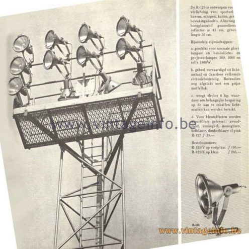 Raak Catalogue 5, 1962 – Raak Stadium Spot R-125