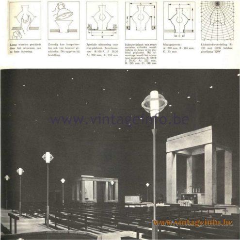 Raak Catalogue 5, 1962 – Raak R-100 Street Lamps - Garden Lamps