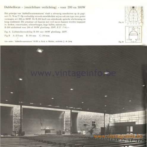 Raak Catalogue 5, 1962 – Raak Industrial Ceiling Lamp R-200