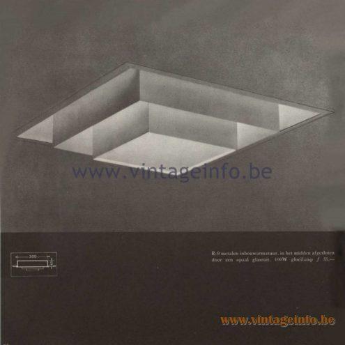 Raak Catalogue 5, 1962 – Raak Ceiling Lamp/Recessed Luminaire R-9