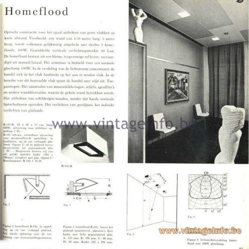 Raak Catalogue 5, 1962 – Raak Ceiling Lamp/Recessed Luminaire R-141 - Homeflood