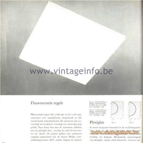 Raak Catalogue 5, 1962 – Raak F-3029 Tile Flush Mount/Ceiling Lamp