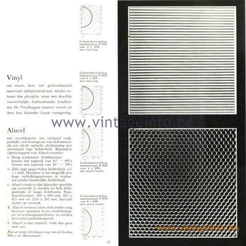 Raak Catalogue 5, 1962 – Raak Vinyl & Alucel Flush Mount/Ceiling Lamp