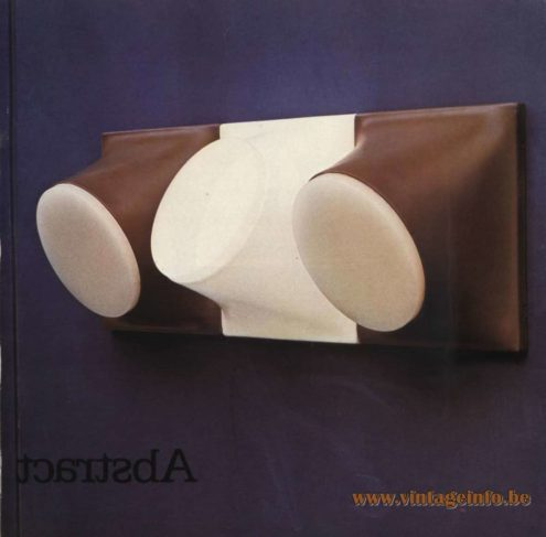 Raak Catalogue 9 - 1972, Raak Abstract Wall Light – C-1644