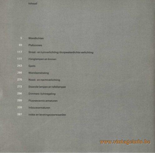 Raak Catalogue 9 - 1972 - Raak Inhoud
