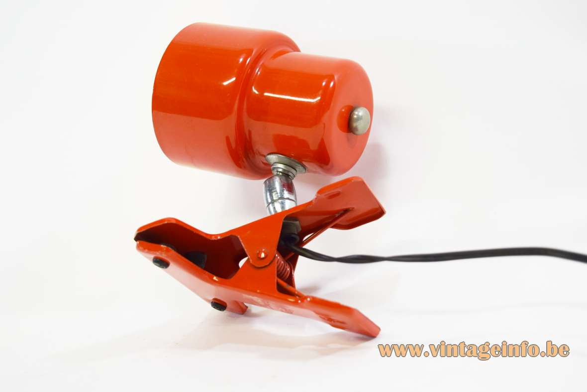 Red Clamp Lamp
