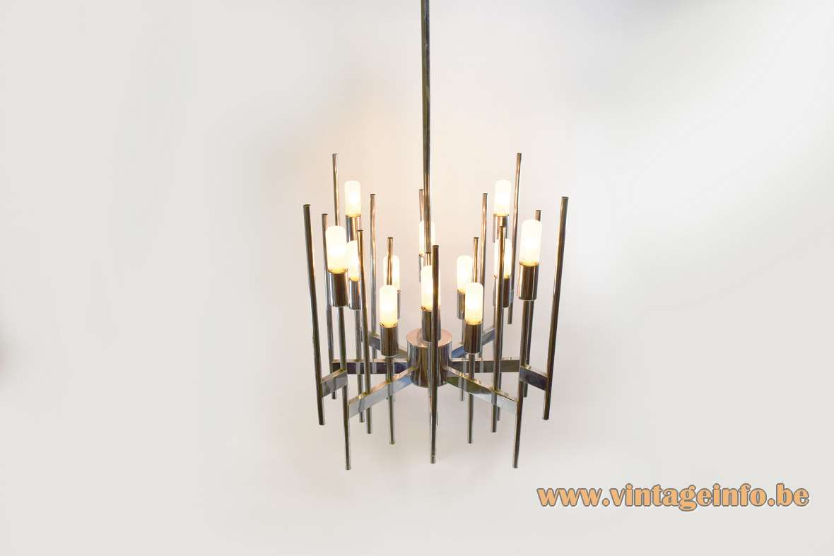 Sciolari Chromed Tubes Chandelier