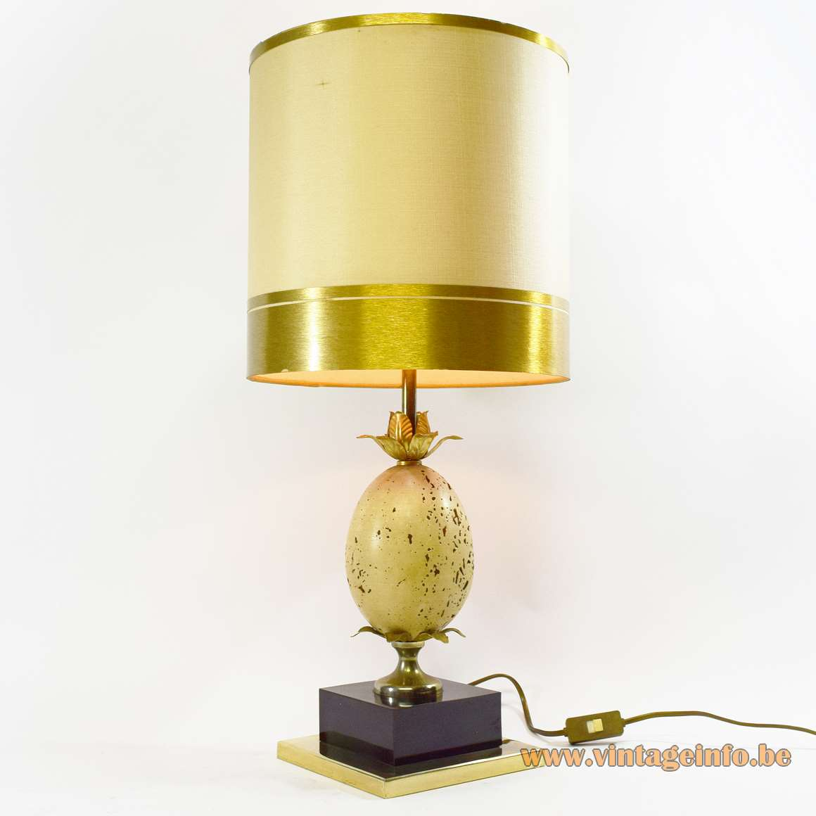 Travertine ostrich egg table lamp vintage info all about vintage travertine ostrich egg table lamp aloadofball Images