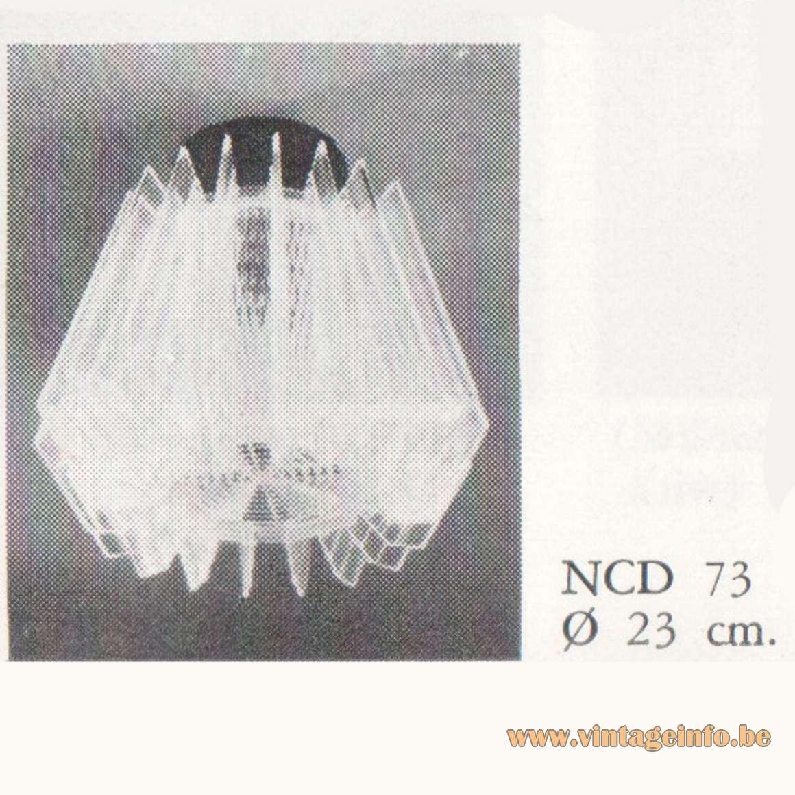 1967 Philips Slats Ceiling Lamp NCD 73