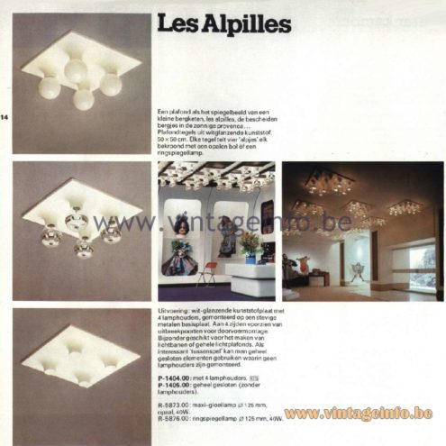 Raak Ceiling Lamp Les Alpilles, P-1404.00, P-1405.00