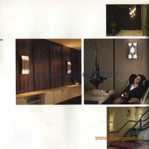 Raak Fuga (fugue) Wall Lamp C-1629.11, C1629.12, C-1630.11, C-1630.12, C-1632.11, C-1632.12, C-1633.11, C-1633.12 Design: Maija Liisa Komulainen